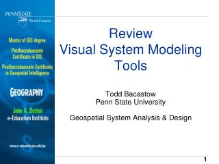 Review Visual System Modeling Tools