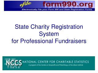State Charity Registration System