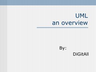 UML an overview