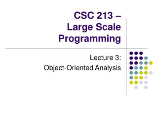CSC 213 – Large Scale Programming