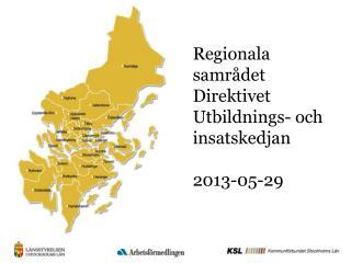 Regionala samrådet Direktivet Utbildnings- och insatskedjan 2013-05-29
