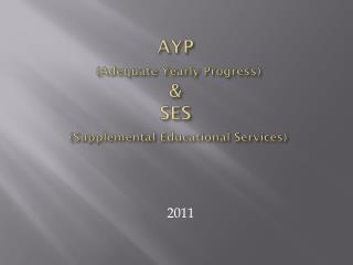 AYP (Adequate Yearly Progress) & SES (Supplemental Educational Services)
