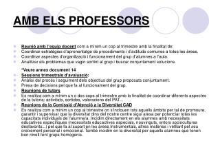 AMB ELS PROFESSORS