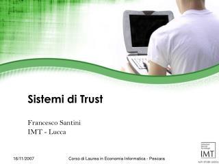 Sistemi  di Trust
