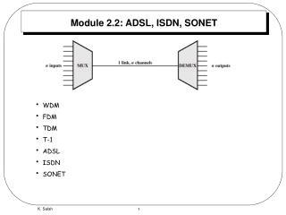 Module 2.2: ADSL, ISDN, SONET