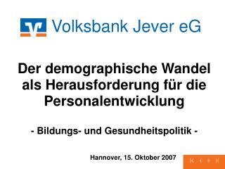 Hannover, 15. Oktober 2007