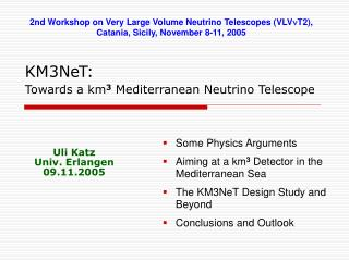 KM3NeT: Towards a km 3  Mediterranean Neutrino Telescope