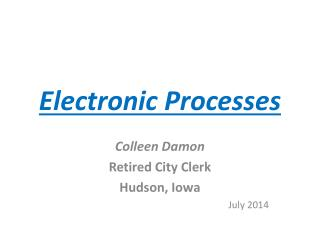 Electronic Processes