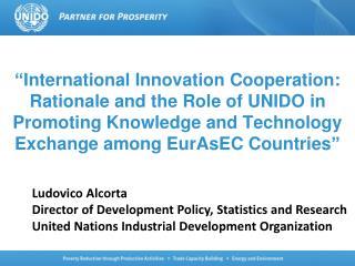 Ludovico Alcorta Director of Development Policy, Statistics and Research