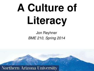A Culture of Literacy