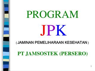 PROGRAM J P K