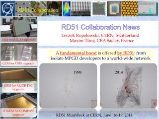 Leszek Ropelewski , CERN ,  Switzerland M axim  Titov,  CEA  Saclay , France