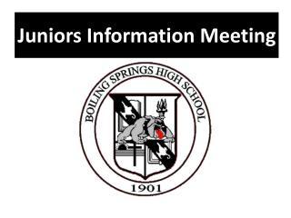 Juniors Information Meeting