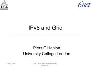 IPv6 and Grid