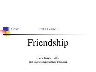 Grade 3                     Unit 1 Lesson 1