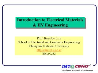 Introduction to Electrical Materials & HV Engineering