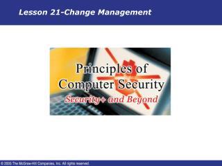 Lesson 21-Change Management