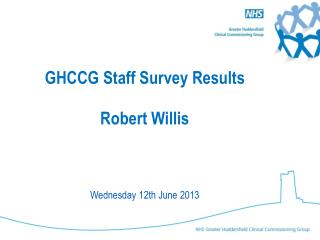 GHCCG Staff Survey Results Robert Willis