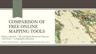 Comparison of Free Online Mapping Tools