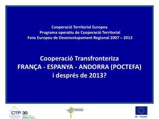 Fonaments de la Cooperació territorial europea