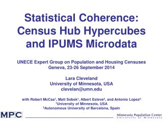 Statistical Coherence: Census Hub Hypercubes and IPUMS Microdata