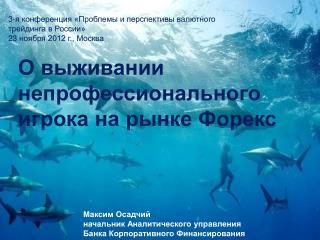 3-я конференция «Проблемы и перспективы валютного  трейдинга  в России» 23  ноября 2012 г., Москва
