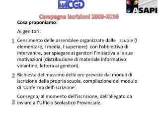 Campagna iscrizioni 2009-2010