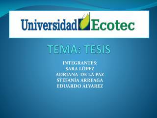 TEMA: TESIS