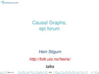 Causal Graphs,  epi forum