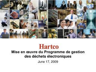 Mise en œuvre du Programme de gestion des déchets électroniques