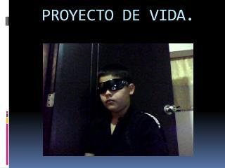 PROYECTO DE VIDA.