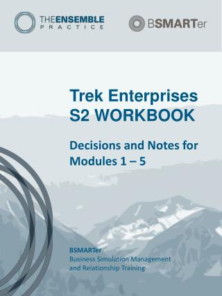 Trek Enterprises S2 WORKBOOK