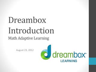 Dreambox Introduction Math Adaptive Learning