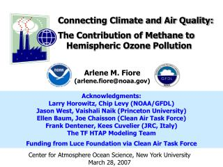 Connecting Climate and Air Quality: The Contribution of Methane to Hemispheric Ozone Pollution