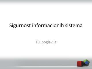 Sigurnost informacionih sistema