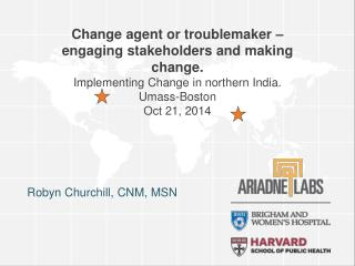 Change agent or troublemaker � engaging stakeholders  and making  change.