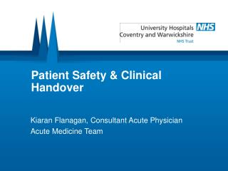 Patient Safety & Clinical Handover
