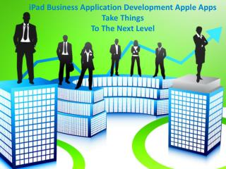 iPad Business Application Development: Apple Apps Take Thin