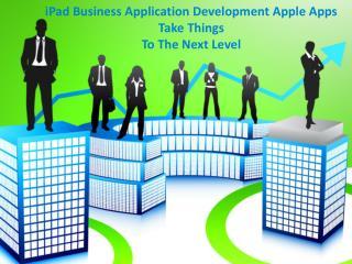 iPad Business Application Development: Apple Apps Take Thin