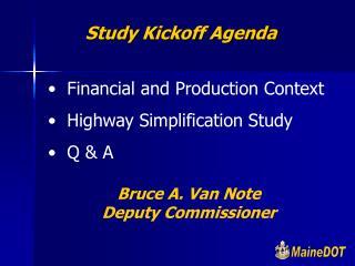 Study Kickoff Agenda