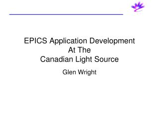 EPICS Application Development At The Canadian Light Source