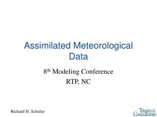 Assimilated Meteorological Data