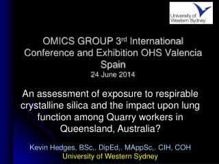 OMICS GROUP 3 rd  International Conference and Exhibition OHS Valencia Spain 24 June 2014