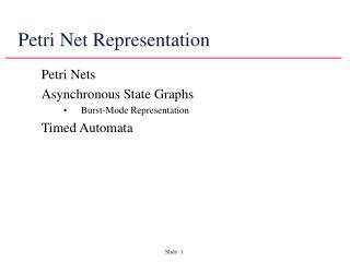 Petri Net Representation