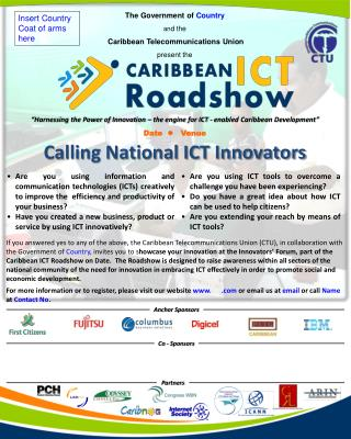 """Harnessing the Power of Innovation – the engine for ICT - enabled Caribbean Development"""