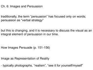 Ch. 6: Images and Persuasion
