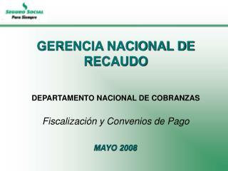 GERENCIA NACIONAL DE RECAUDO