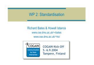 WP 2: Standardisation