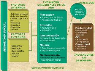 Planeación  Planeación de RRHH  Análisis del trabajo Provisión Reclutamiento  Selección