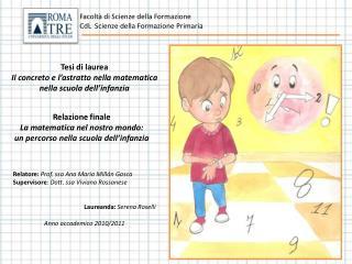 Tesi di laurea Il concreto e l'astratto nella matematica nella scuola dell'infanzia